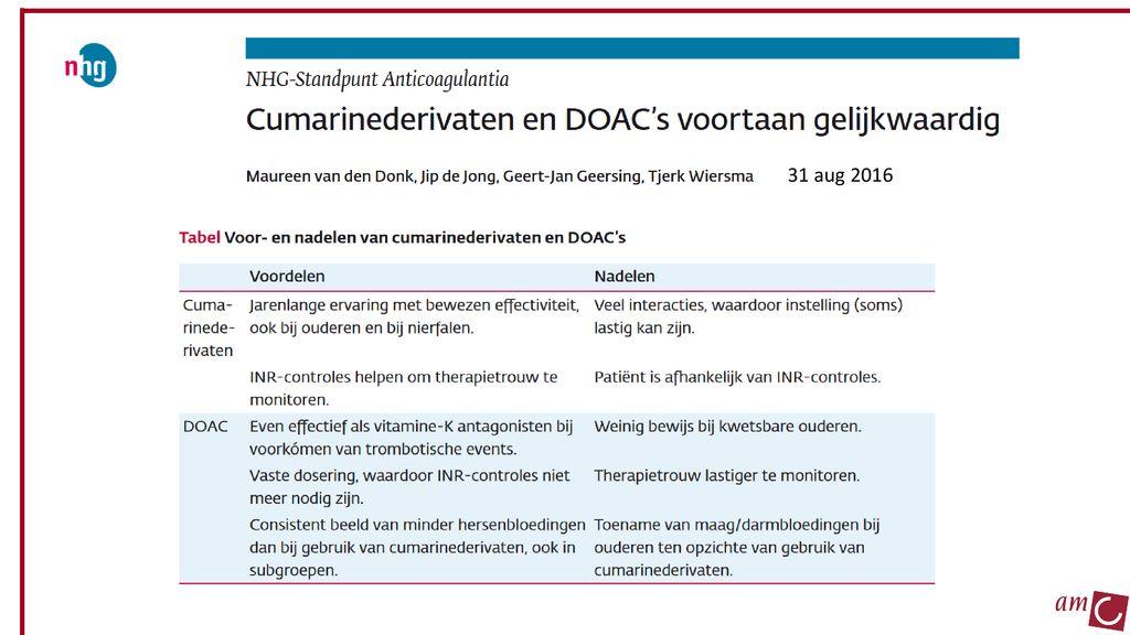 Farmacotherapeutisch Overleg Antistolling in de ...