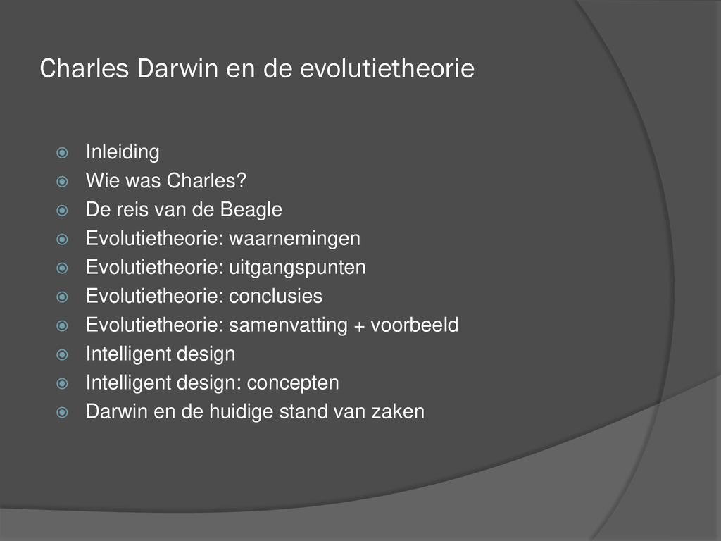 Charles Darwin En De Evolutietheorie Ppt Download
