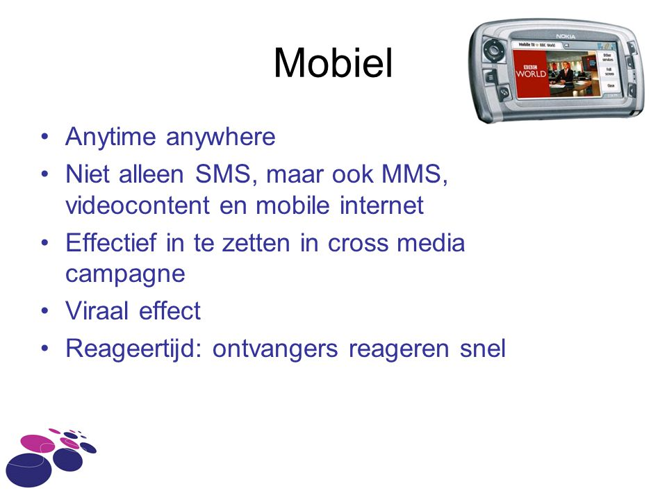 Mobiel Anytime anywhere