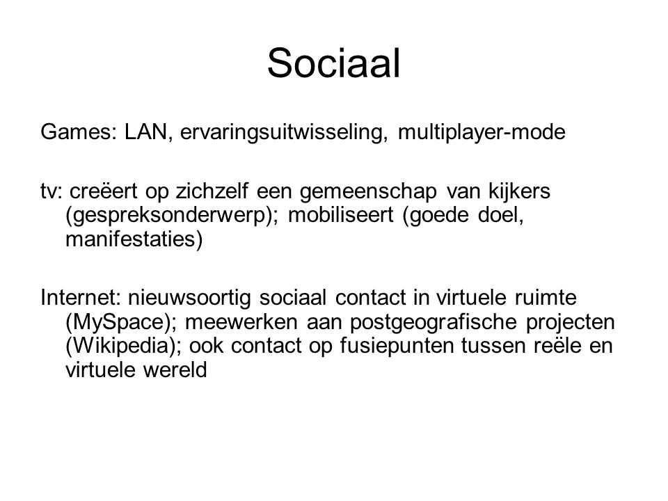 Sociaal Games: LAN, ervaringsuitwisseling, multiplayer-mode