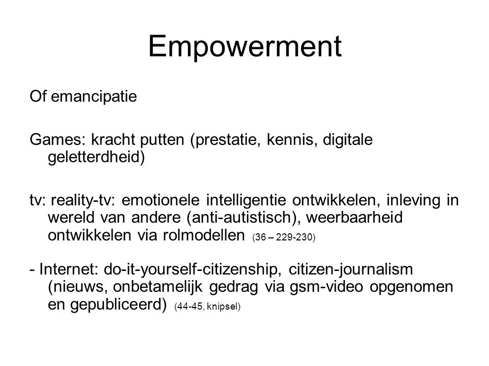 Empowerment Of emancipatie
