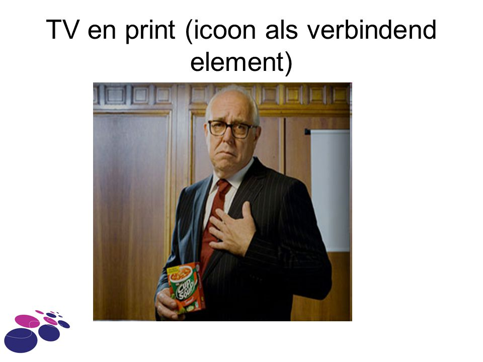 TV en print (icoon als verbindend element)