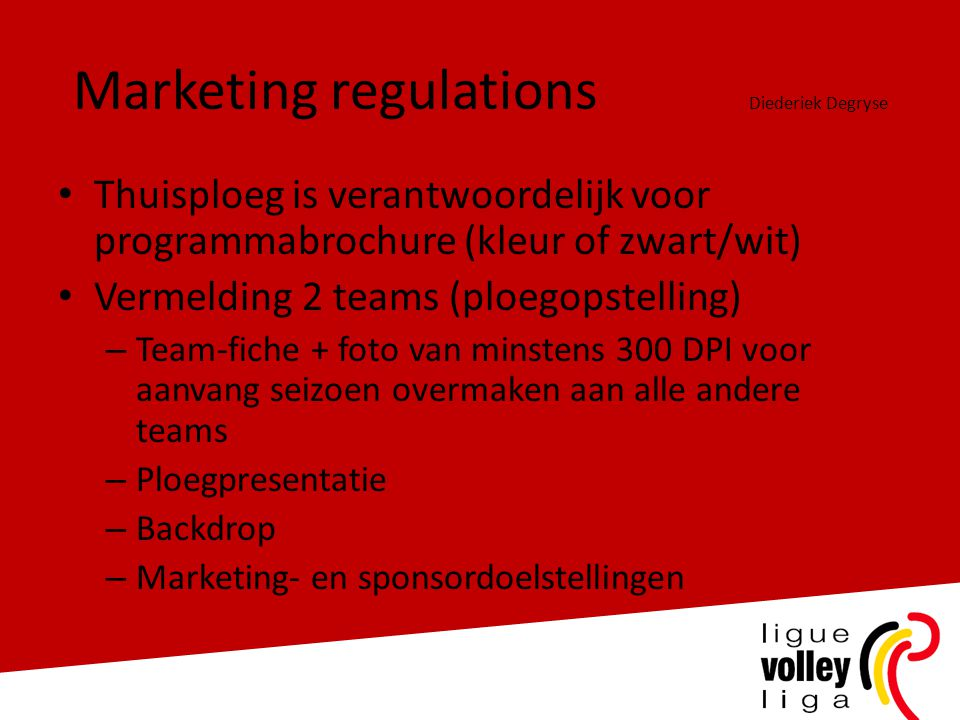Marketing regulations Diederiek Degryse