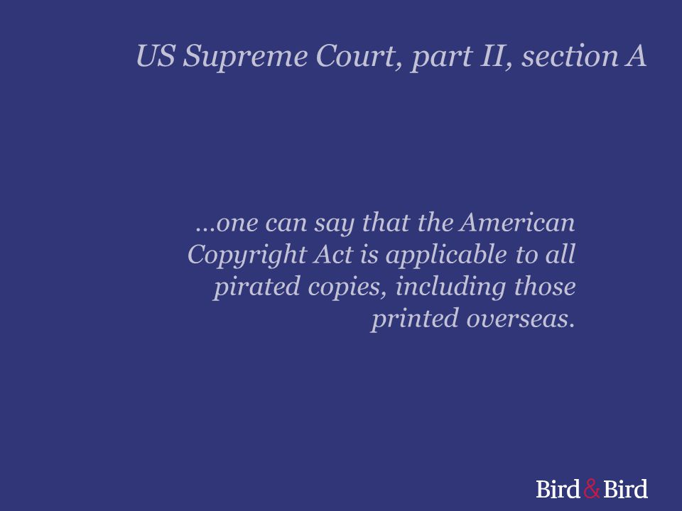US Supreme Court, part II, section A