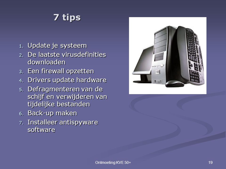 7 tips Update je systeem De laatste virusdefinities downloaden