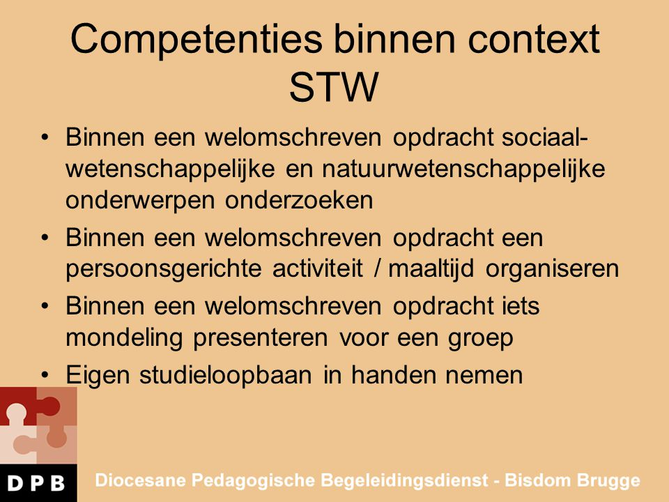 Competenties binnen context STW