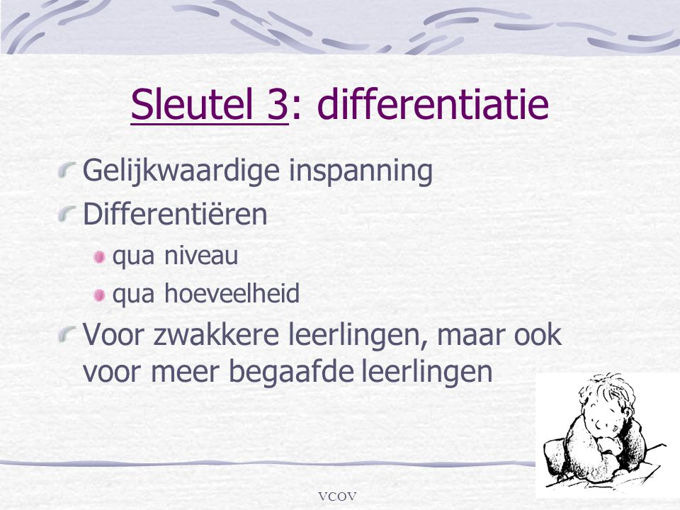 Sleutel 3: differentiatie