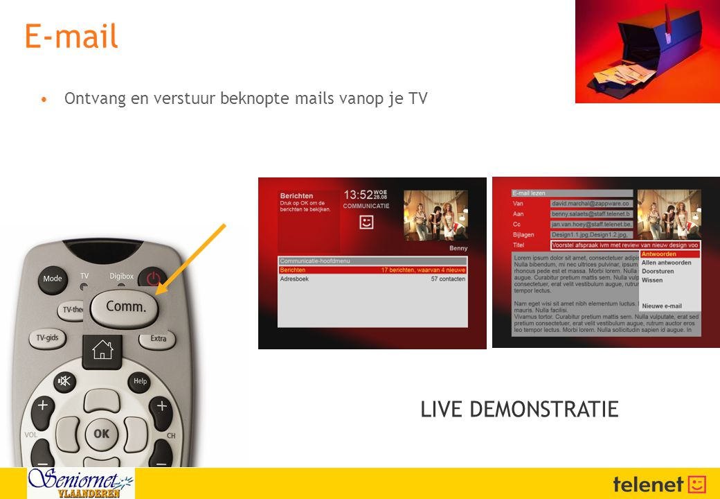 E-mail LIVE DEMONSTRATIE