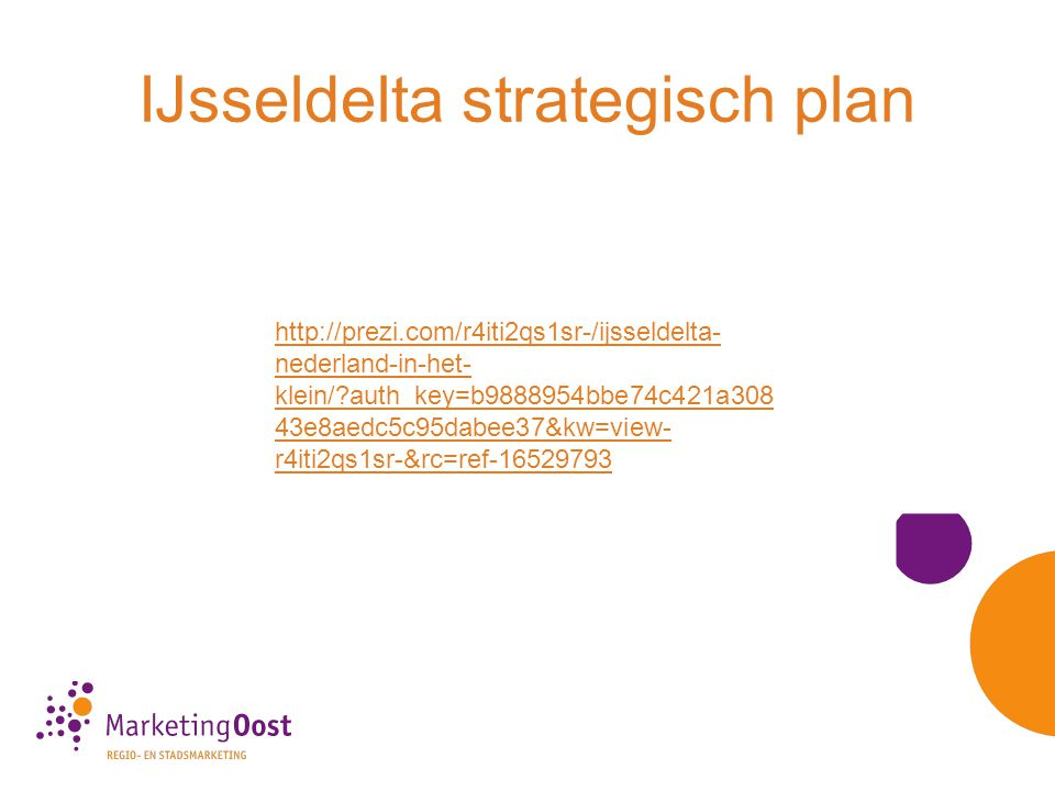 IJsseldelta strategisch plan