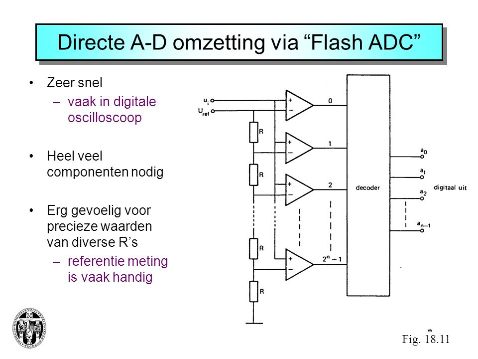 Directe A-D omzetting via Flash ADC