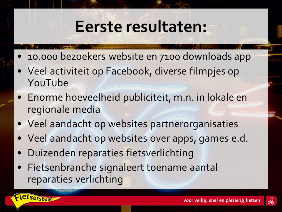 Eerste resultaten: bezoekers website en 7100 downloads app