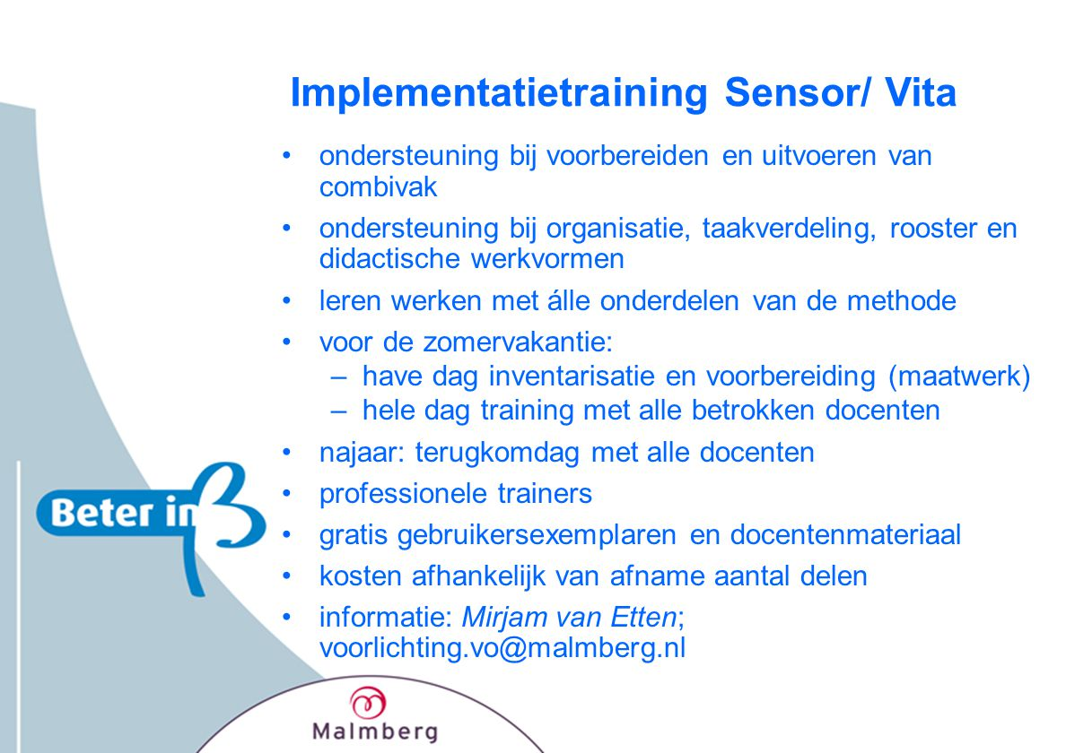 Implementatietraining Sensor/ Vita