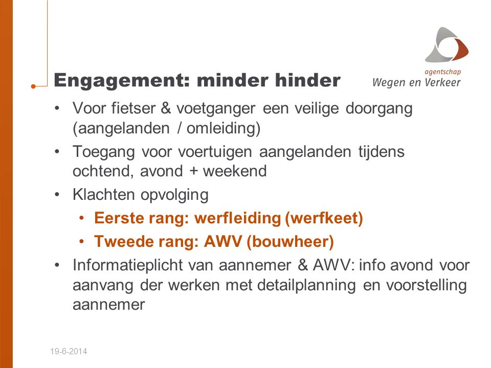 Engagement: minder hinder