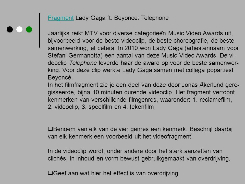 Fragment Lady Gaga ft. Beyonce: Telephone