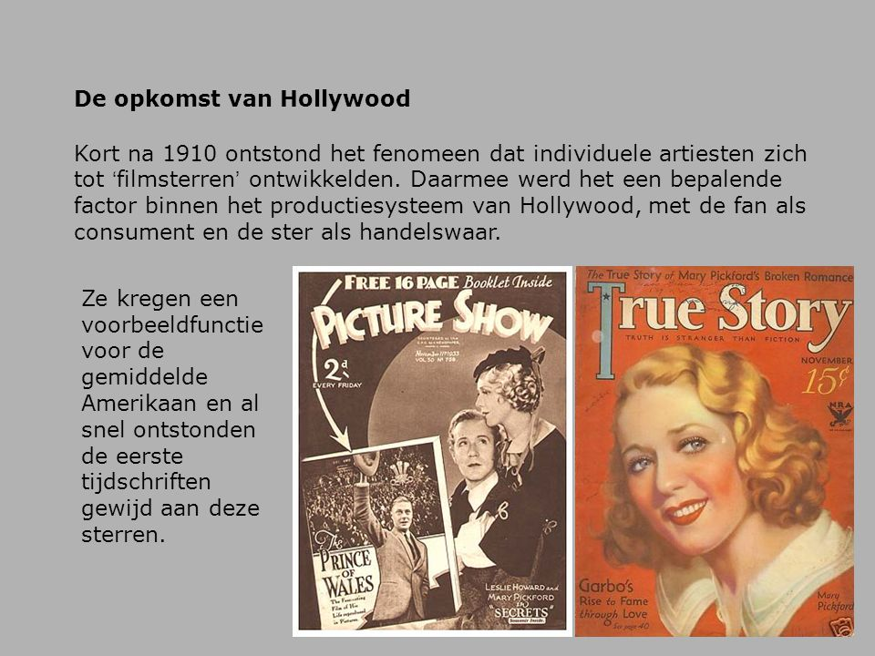 De opkomst van Hollywood