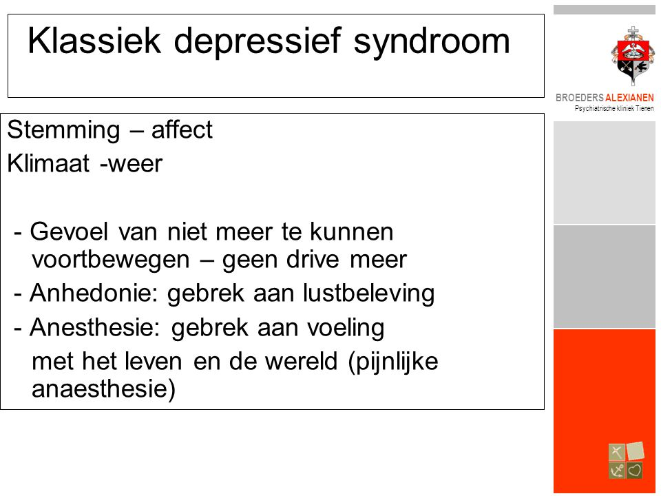 Klassiek depressief syndroom