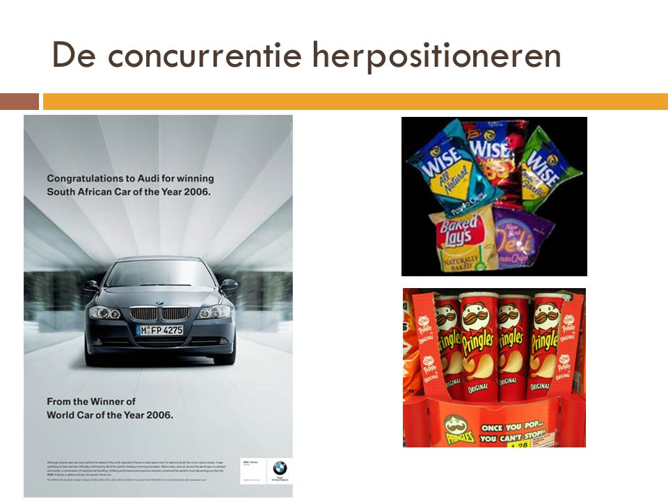 De concurrentie herpositioneren