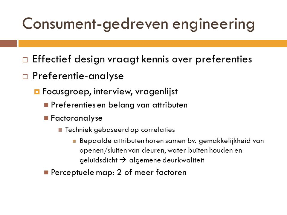 Consument-gedreven engineering