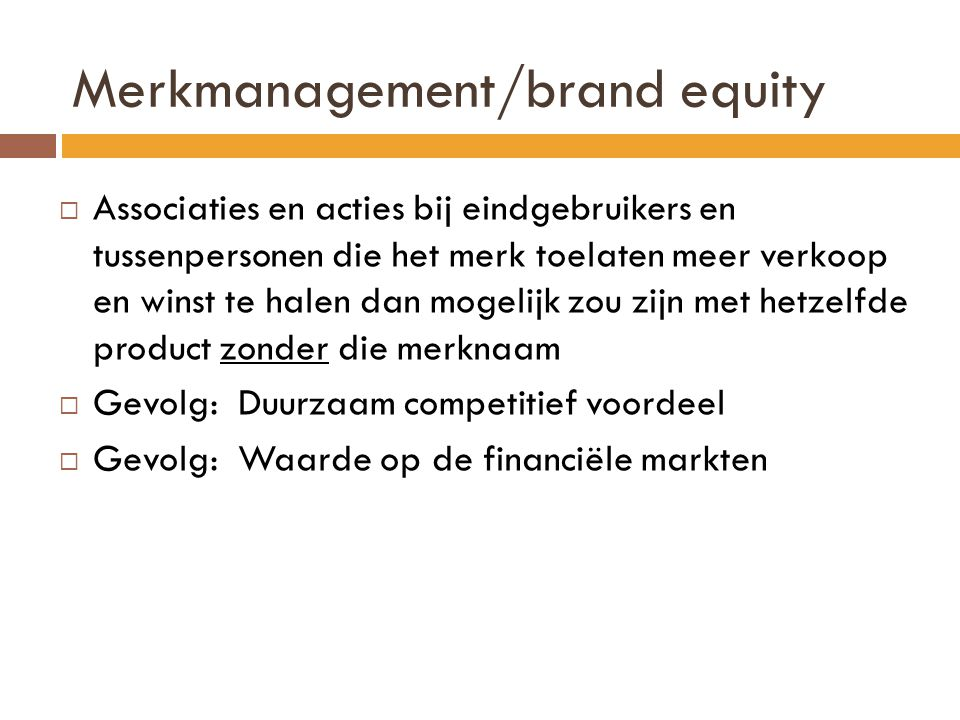 Merkmanagement/brand equity