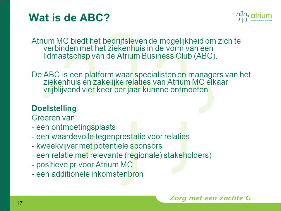Wat is de ABC