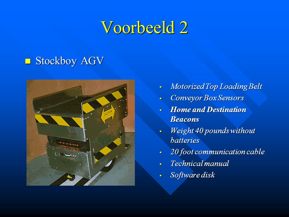Voorbeeld 2 Stockboy AGV Motorized Top Loading Belt