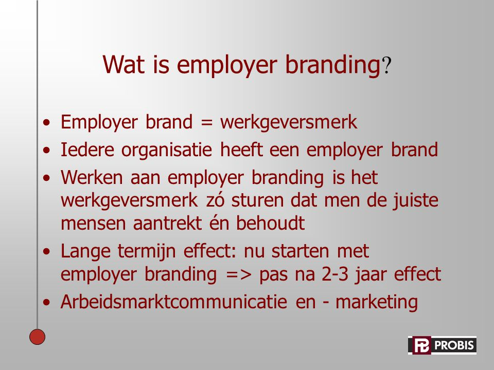 Wat is employer branding