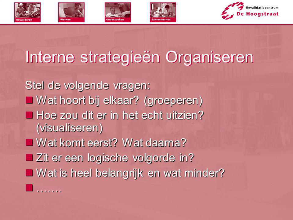 Interne strategieën Organiseren