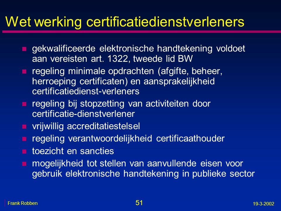 Wet werking certificatiedienstverleners