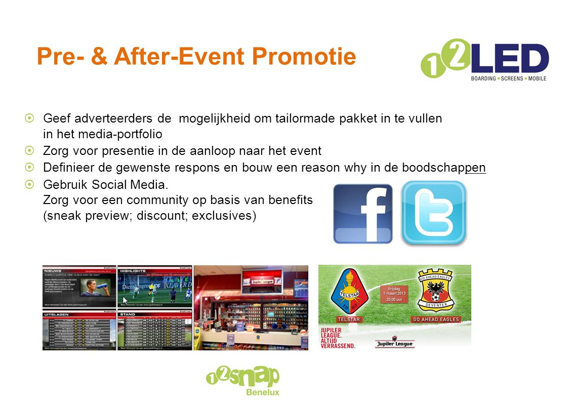 Pre- & After-Event Promotie