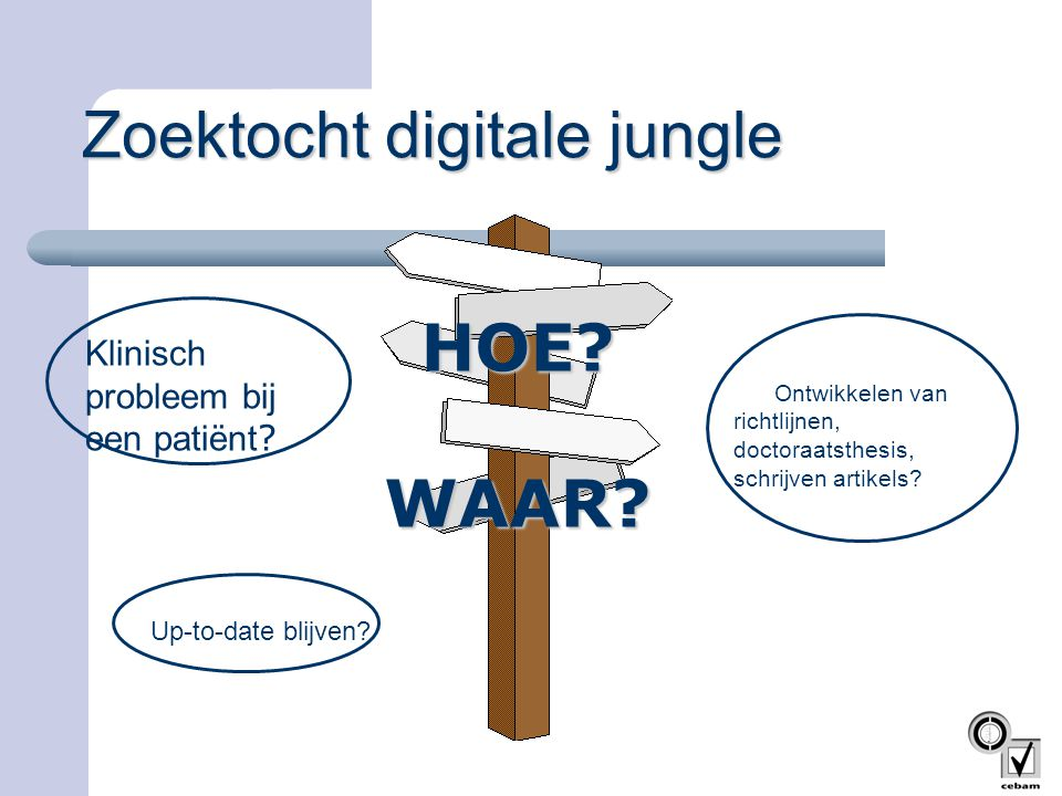 Zoektocht digitale jungle
