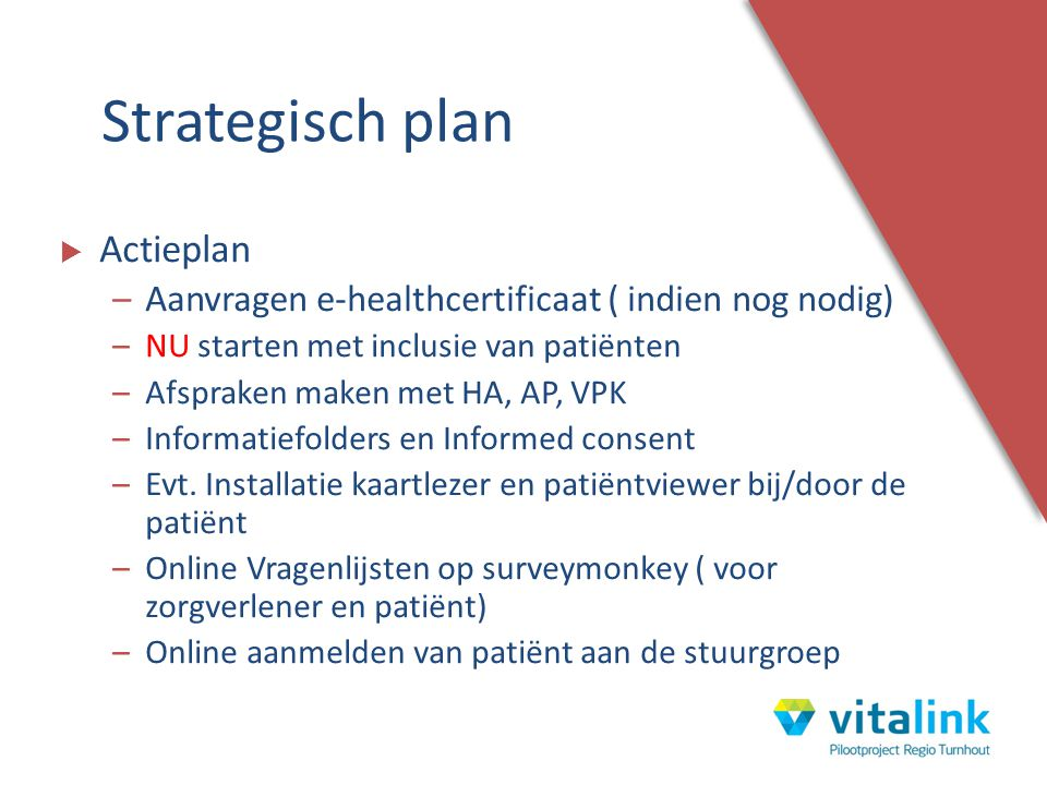 Strategisch plan Actieplan