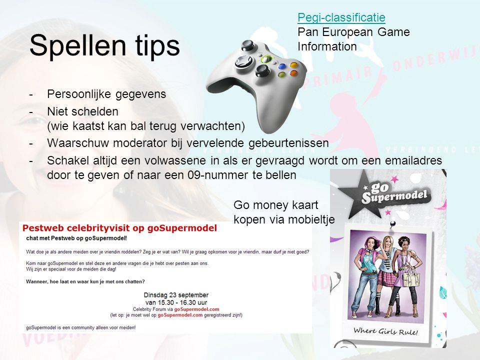 Spellen tips Pegi-classificatie Pan European Game Information