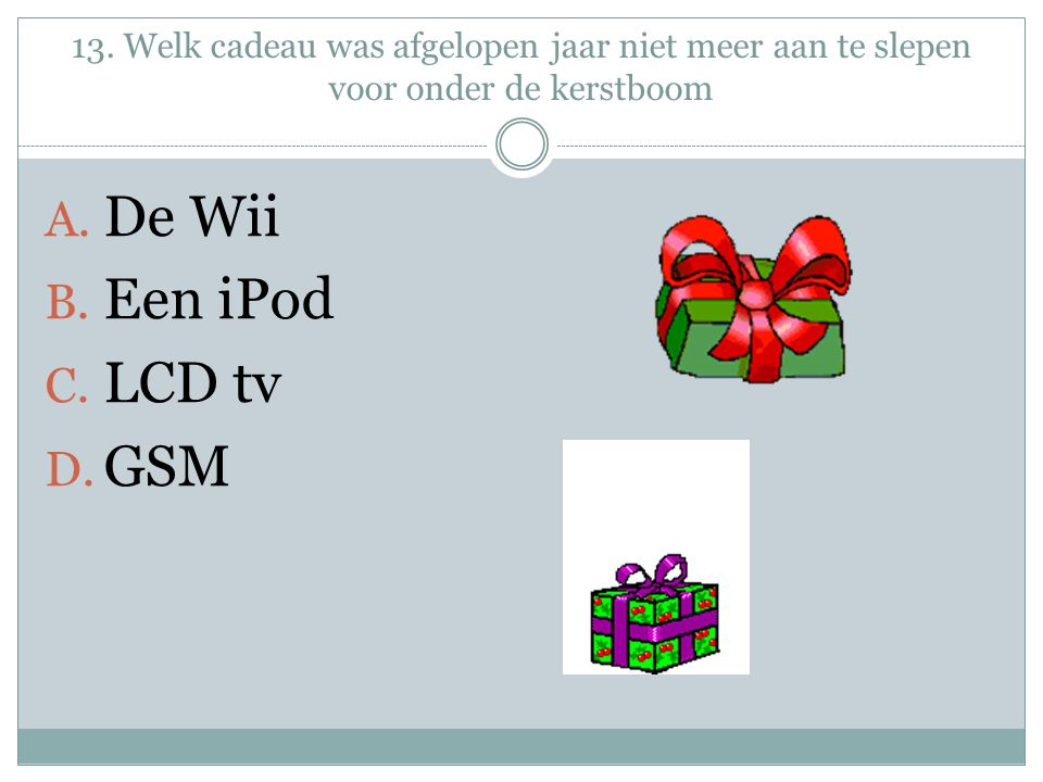 De Wii Een iPod LCD tv GSM