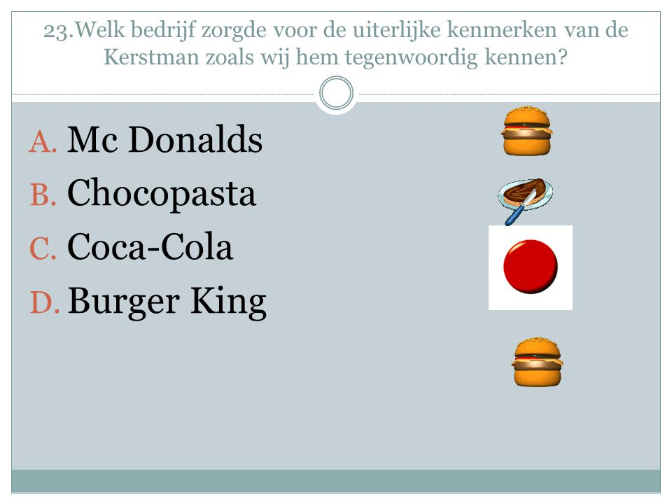 Mc Donalds Chocopasta Coca-Cola Burger King