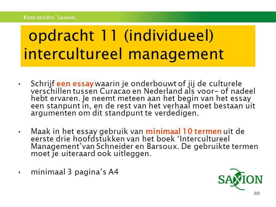 opdracht 11 (individueel) intercultureel management