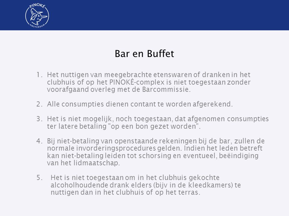 Bar en Buffet