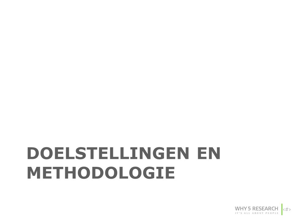 Doelstellingen en methodologie