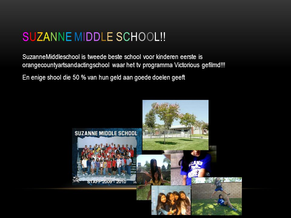 SUZANNE MIDDLE SCHOOL!!