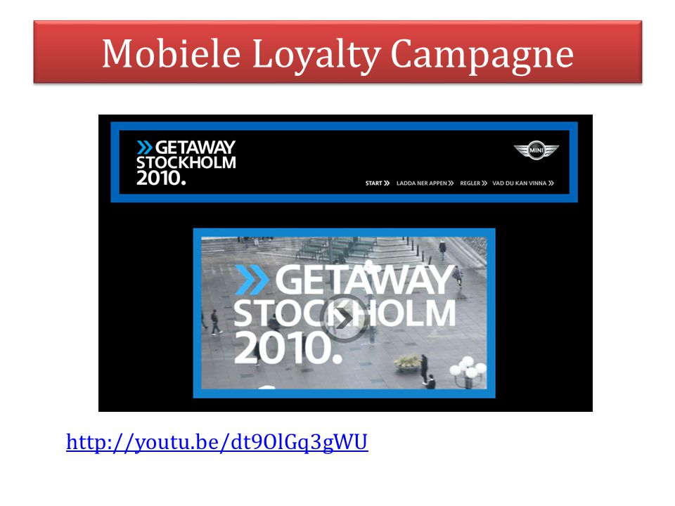 Mobiele Loyalty Campagne