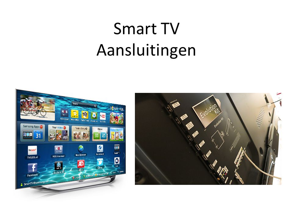 Smart TV Aansluitingen