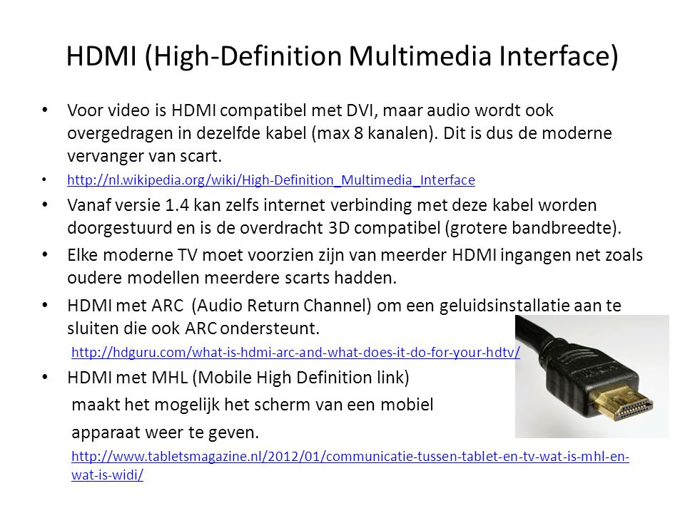 HDMI (High-Definition Multimedia Interface)