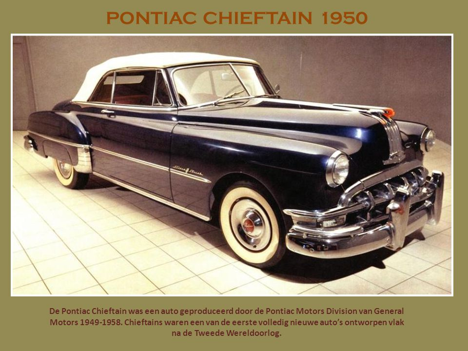 PONTIAC CHIEFTAIN 1950