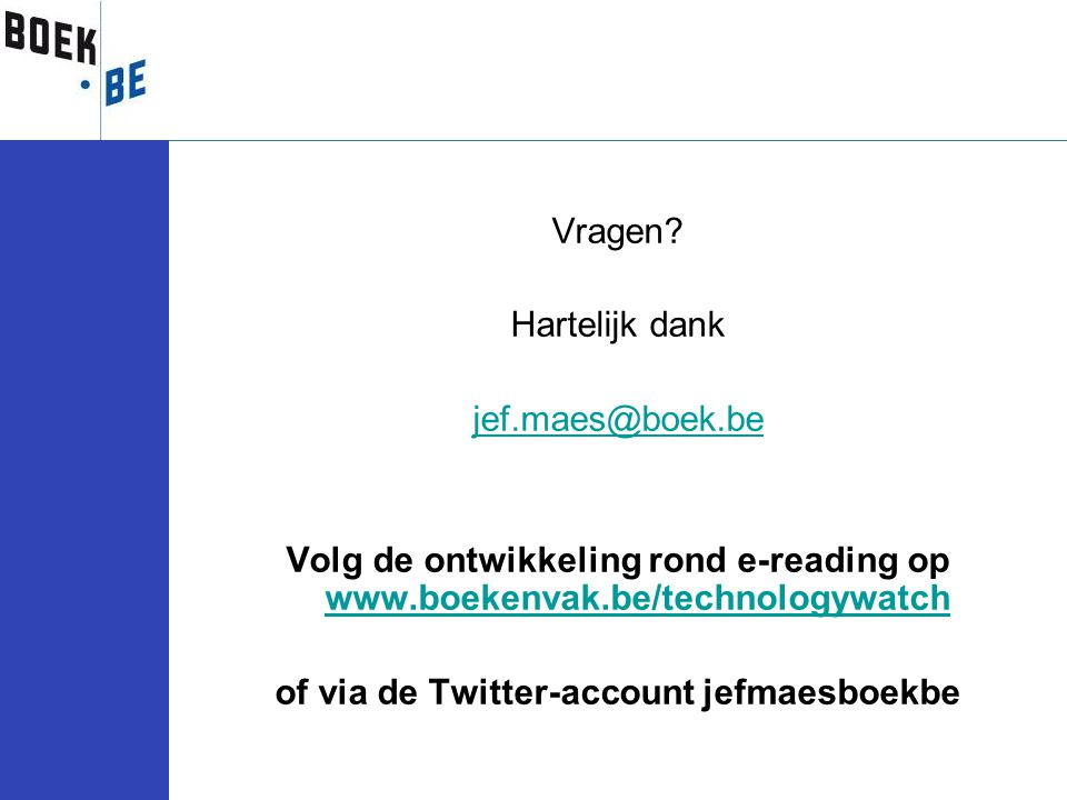 of via de Twitter-account jefmaesboekbe
