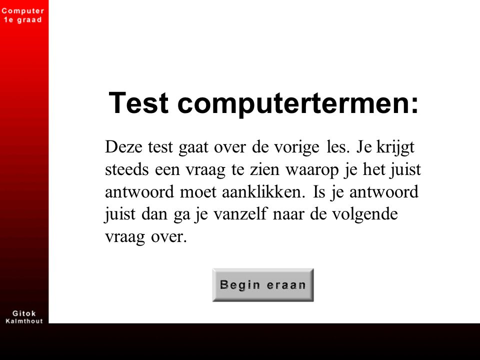 Test computertermen: