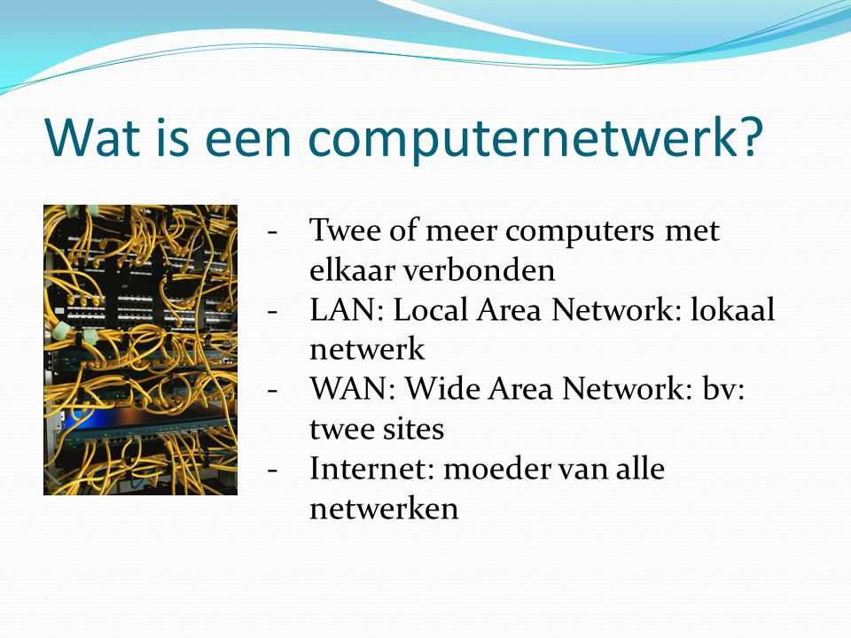 Wat is een computernetwerk