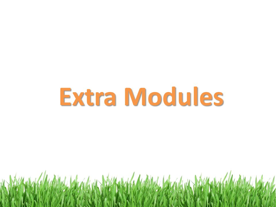 Extra Modules