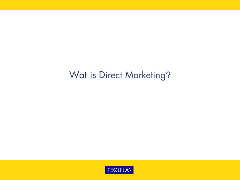 Wat is Direct Marketing