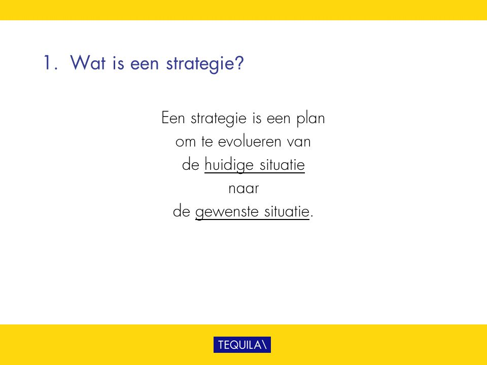 Een strategie is een plan