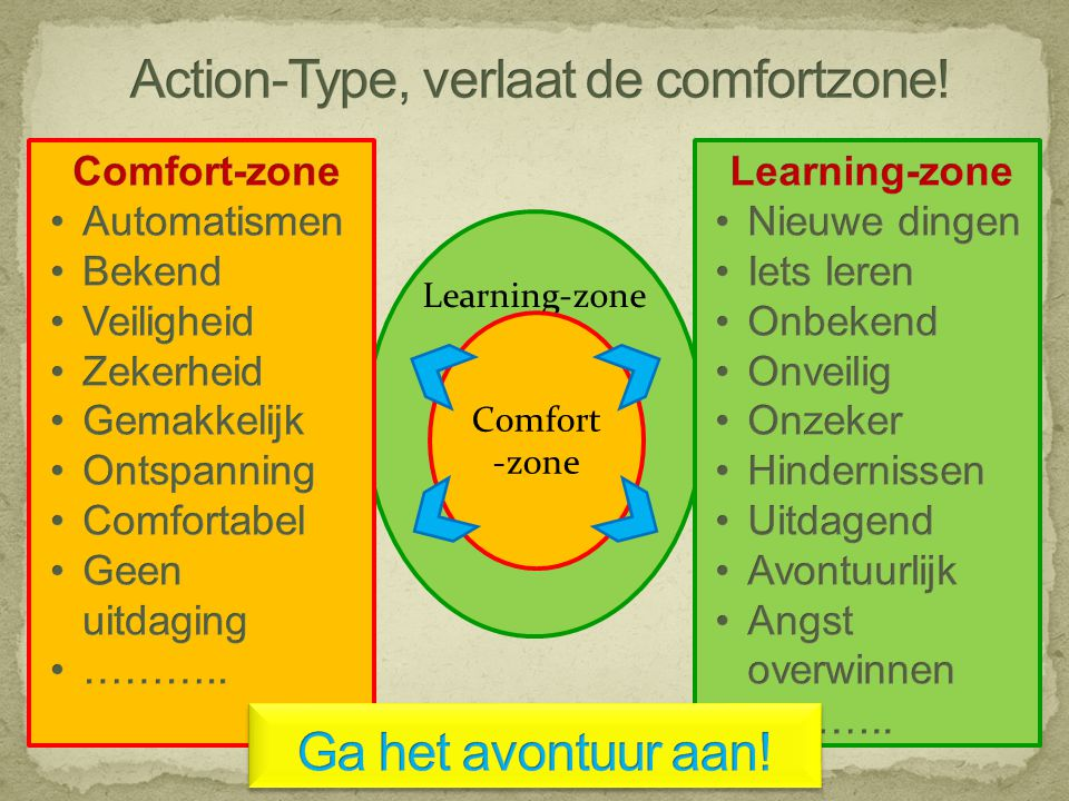 Action-Type, verlaat de comfortzone!