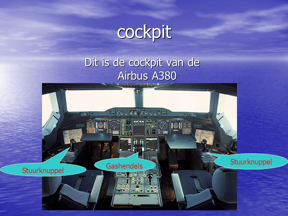 Dit is de cockpit van de Airbus A380